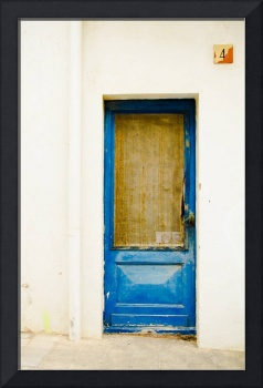 Rustic Shade Blue Door of Spain