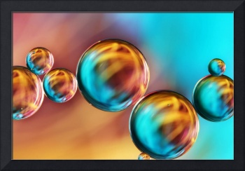 Techno-Coloured Bubble Abstract