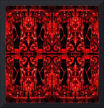 Egyptian Priests and Cobras in Red and Black II
