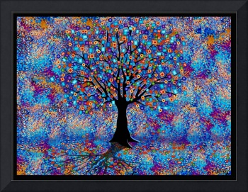 Colorful Tree, Tree of Life, Tree Forest by Juleez