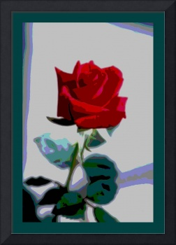 Red Rose Enhanced medium border