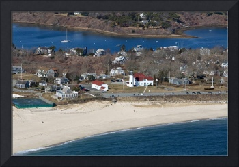 Chatham Lighthouse & Village Aerial Photo