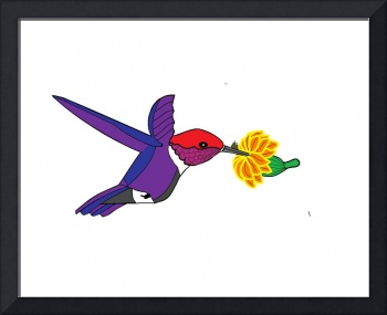 Art Deco Hummingbird Two