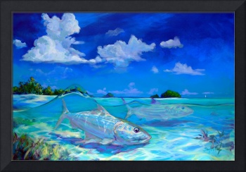 Tropical Bonefish Seascape - A Place I'd Rather Be