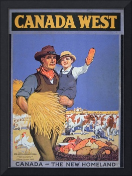 'Canada West' Vintage Poster