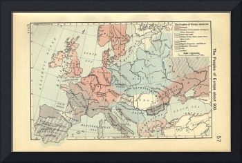 Vintage Map of Europe (1911)