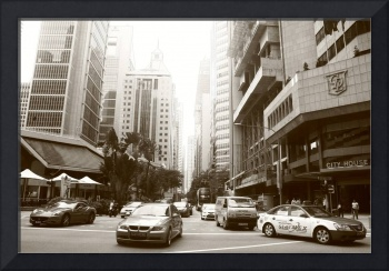 Business District  Singapore, Street BW