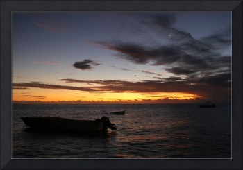 Sunset at Malolo Island