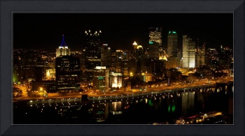 Pittsburgh Night Skyline atop Mount Washington