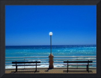 deep blue of Bordighera