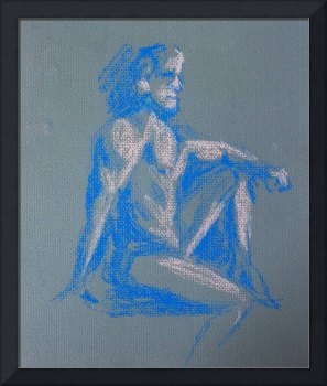 Figure in Gray and Blue