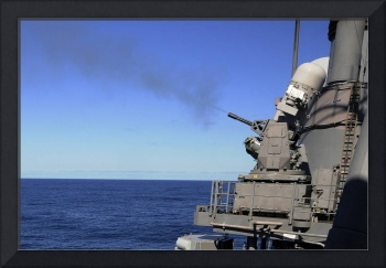 USS Monterey conducts a close-in weapons system li