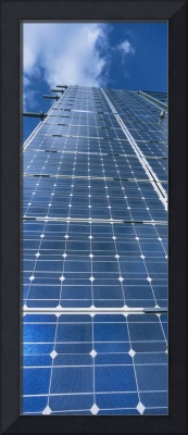 Low angle view of solar panels