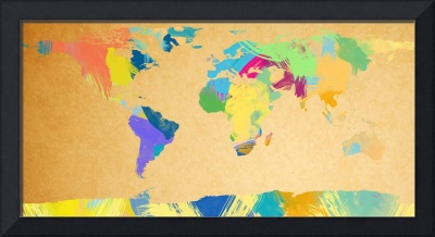 watercolor world map 2