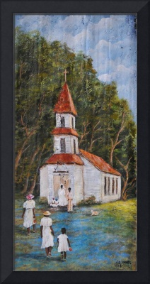 LITTLE CHURCH IN THE WOODS AFRICAN AMERICAN ART