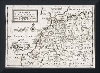 Map of The West Part of Barbary