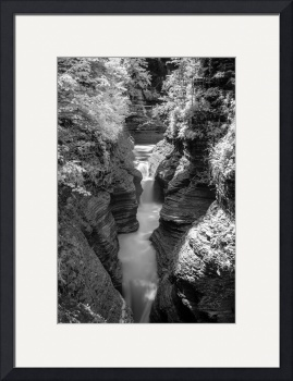 Watkins Glen - Infrared B&W by D. Brent Walton