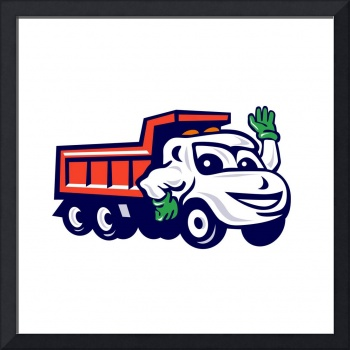 Dump Truck Waving Cartoon
