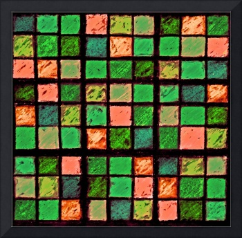 Sudoku Abstract Green Coral
