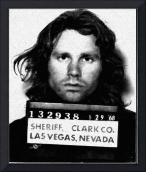 Jim Morrison Mug Shot 1968 Photo