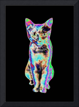 Pixelated Digital Cat