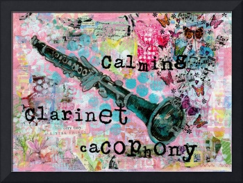 music art | Clarinet Cacophony | mixed media art