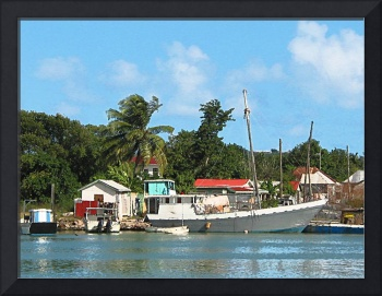 Docked Boats Antigua