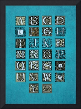 Blue Azure Alphabet