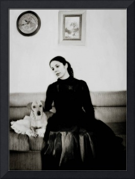 Portrait of a Lady and her dog