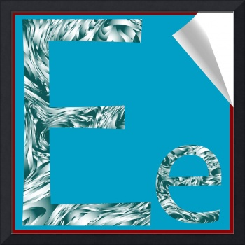 alphabet letter E sticker