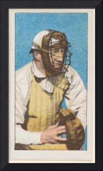 Vintage Baseball Catcher Illustration (1911)