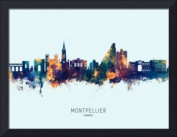 Montpellier France Skyline