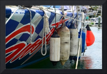 Red and Blue Boat Fenders