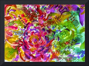 Colorful Abstract Floral Watercolor