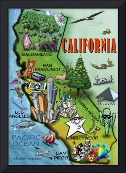 California Cartoon Map
