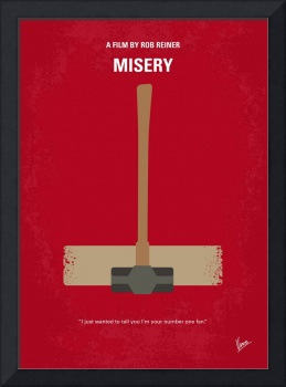 No814 My Misery minimal movie poster