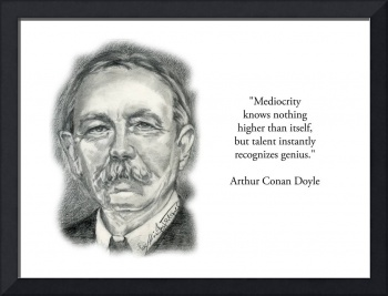 Inspirational Portrait of Arthur Conan Doyle