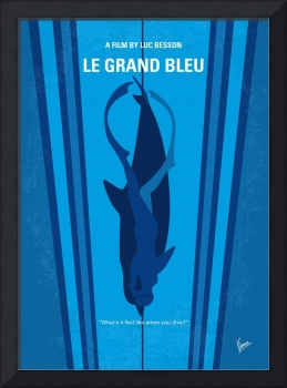 No577 My Big Blue minimal movie poster