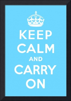Blue Keep Calm And Carry On 6