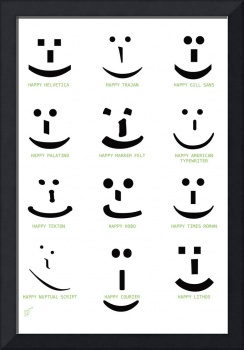Happy Font Faces by LZ