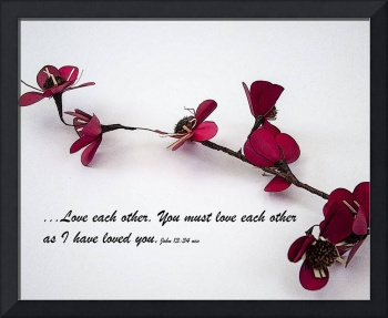 Love Each Other Red Single Stem