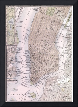 New York City Map (1884)