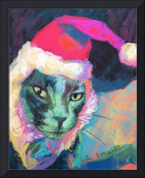 Leo the prussion blue cat, in Baa Humbug