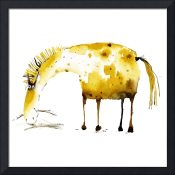 cute yellow horse