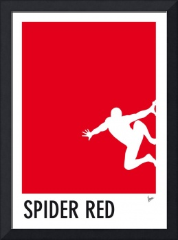 My Superhero 04 Spider Red Minimal poster