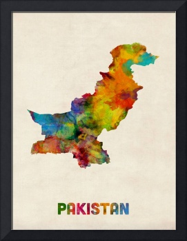Pakistan Watercolor Map