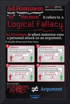 Ad Hominem Infographic - Tabloid