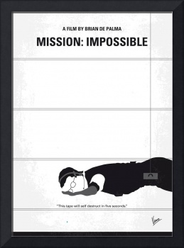 No583 My Mission Impossible minimal movie poster