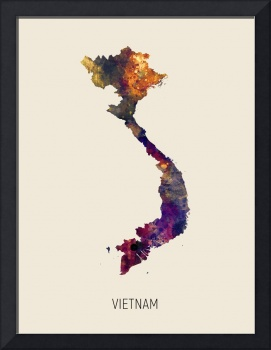 Vietnam Watercolor Map