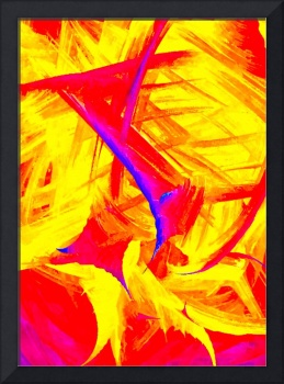 Abstract Colourful Digital Watercolour